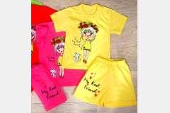 Комплект для девочек футболка + шорты