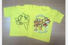 Футболки желтые с рисунком