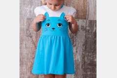 Платье для девочек Кошечка с накатом