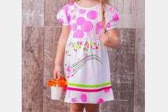 Платье для девочки Мелодия с накатом
